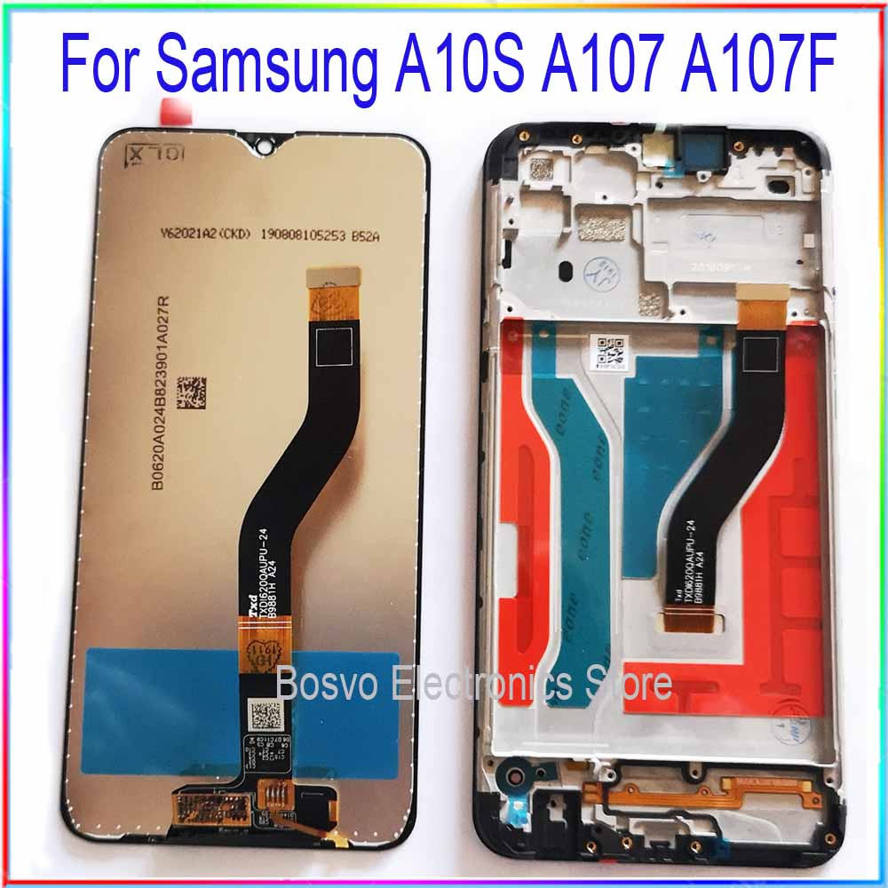 for <font><b>Samsung</b></font> <font><b>A10S</b></font> <font><b>LCD</b></font> <font><b>screen</b></font> display A107F A107F/DS with touch with frame assembly Replacement repair parts image
