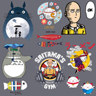 Anime Totoro Patches...