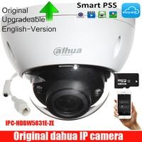 dahua Original english IPC HDBW5831E ZE 8MP WDR IR Dome Network Camera 2.7mm 12mm Motorized Lens Memory SD Card IP67 IK10 PoE