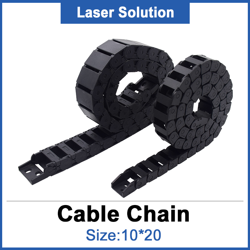 10*20mm Tank Chain / Plastic Transmissin Cable Drag Chain For Laser Engraving & Cutting Machine