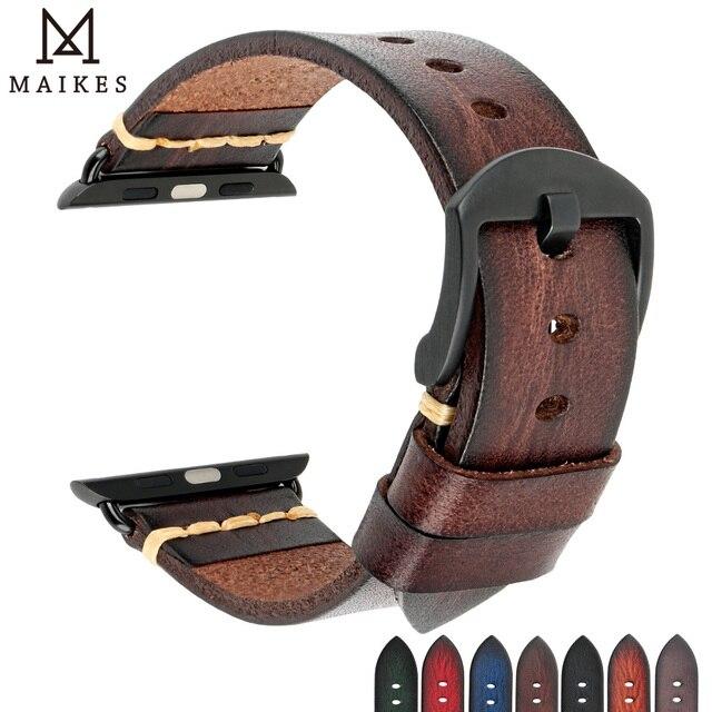 בעבודת יד איטלקי פרה עור רצועת שעון להקת עבור אפל שעון 44mm 40mm 42mm 38mm סדרת SE 6 5 4 3 2 iWatch Watchbands