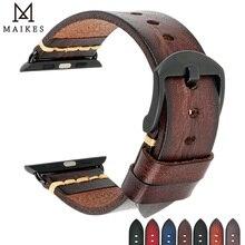 Bracelet italien en cuir de vache fait à la main pour Apple Watch, 44mm 40mm 42mm 38mm, iWatch série SE 6 5 4 3 2