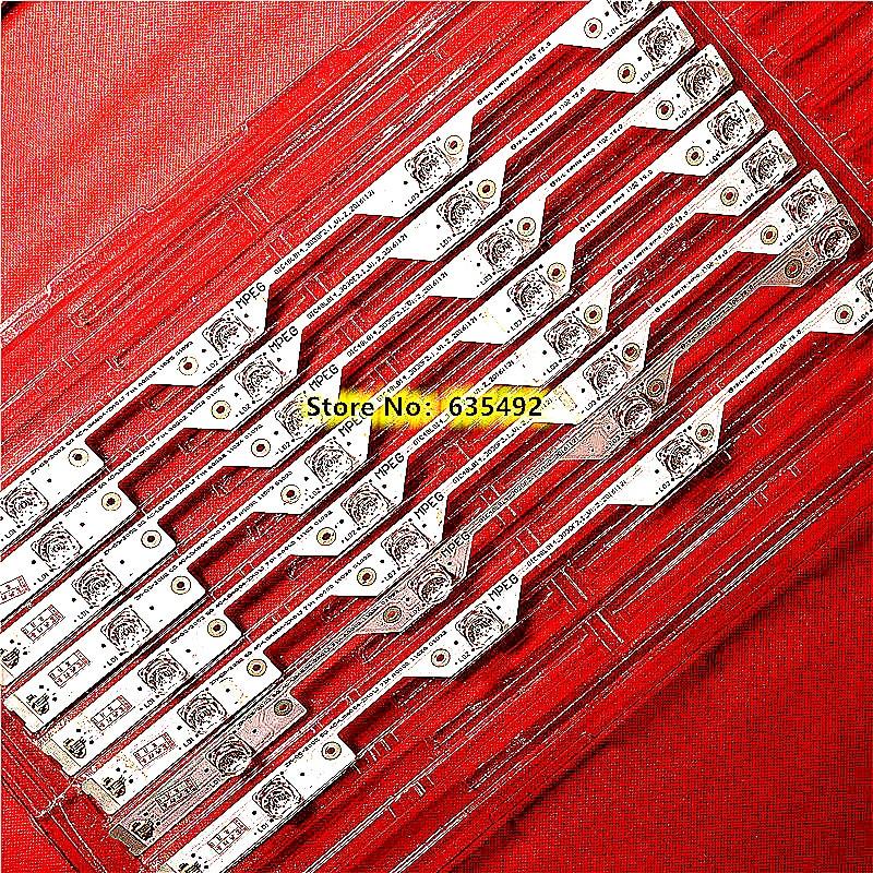 8pcs 4 Lamps For TCL L48P1S-CF L48P1-CUD B48A858U LED Backlight Strip 4C-LB4804-ZM1 4C-LB4804-ZM01J GIC48LB14-3030F2.1e