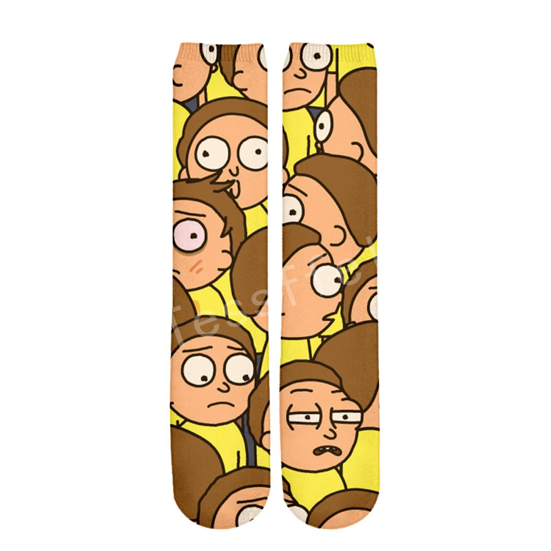 Tessffel Rick And Morty Anime Cartoon Casual Unisex 3D Print Boys/girls/mens/womens Funny Colorful Drop Ship Ankle Socks Style-3