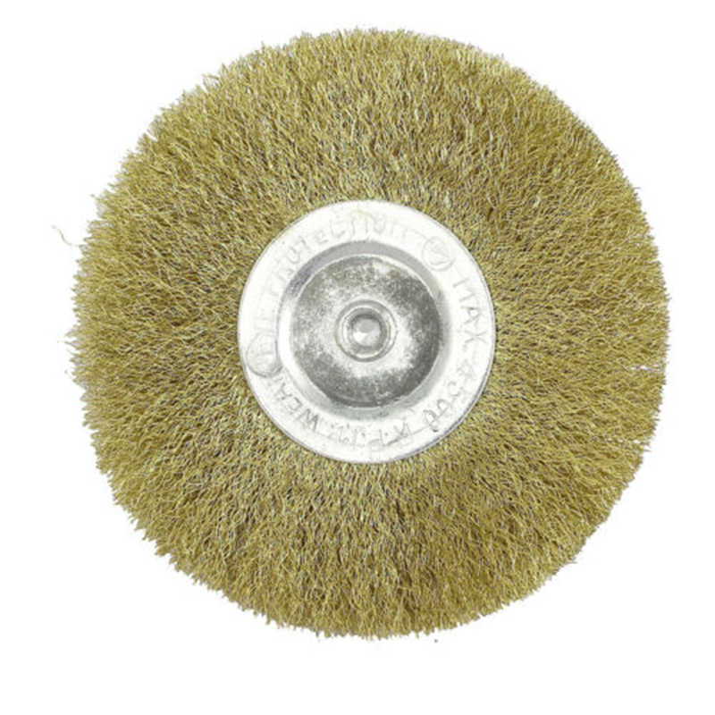 100mm Rotary Copper Wire Wheel Brush For Polishing Work