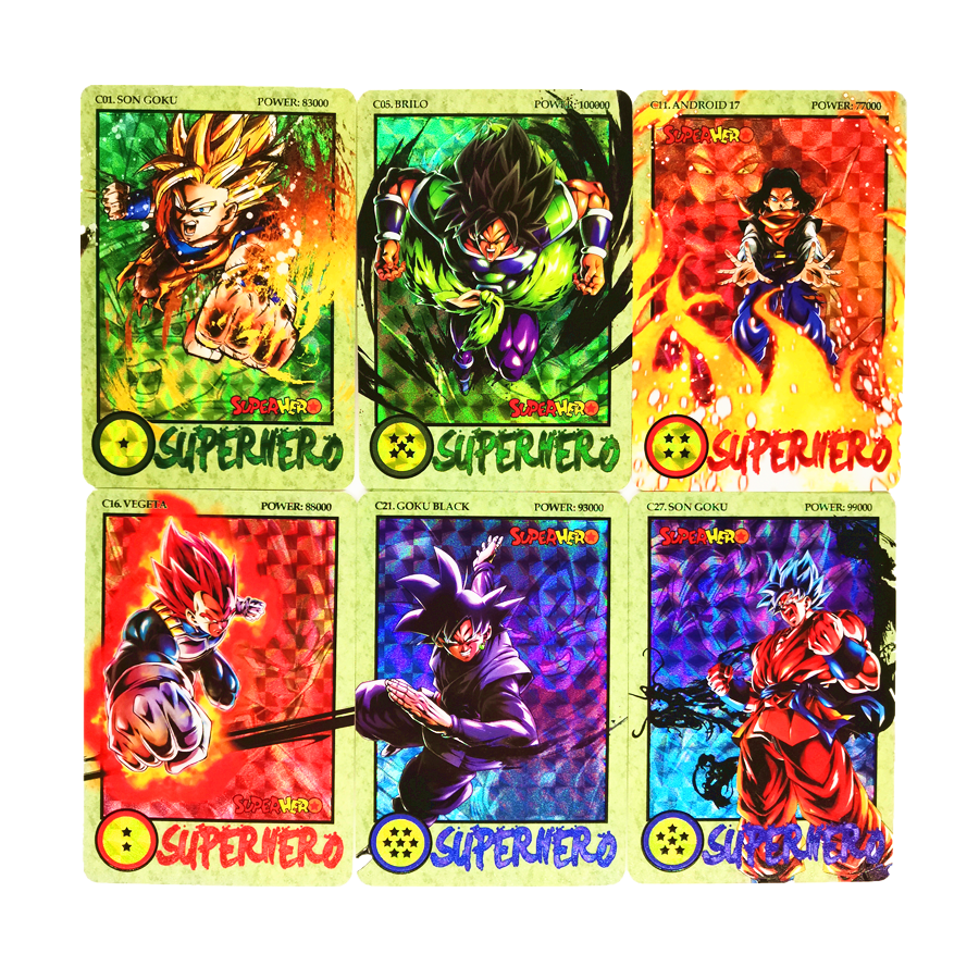 27pcs/set Super Saiyan Dragon Ball Z Ink Relief Heroes Battle Card Ultra Instinct Goku Vegeta Game Collection Cards