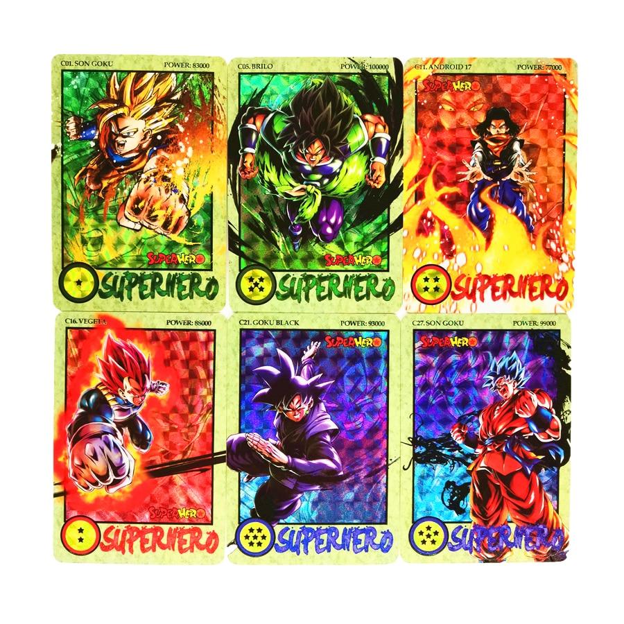 27pcs/set Super Saiyan Dragon Ball Z Ink Relief Heroes Battle Card Ultra Instinct Goku Vegeta Game Collection Cards