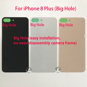 Image 2 - Versione ue europa Cover posteriore grande foro con LOGO + adesivo per iphone 8 8P Plus X XS Max XSM XR custodia posteriore vetro facile da installare