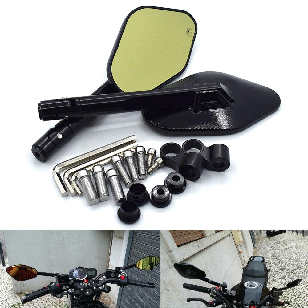 Universal 8mm 10mm Side Mirror Aluminum CNC Motorcycle Rearview Mirror For Rizoma YAMAHA TMAX500 MT-07 MT-09 MT-10 Kawasaki BMW