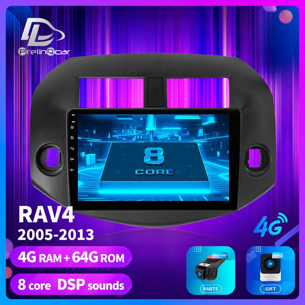 Prelingcar para Toyota RAV4 2005 2008 2013 años Radio de coche estéreo reproductor de vídeo Multimedia navegación GPS Android 9,0 salpicadero