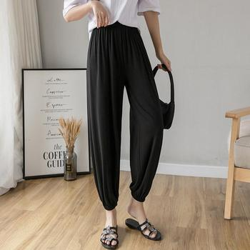 Women's Haren Pant Ankle-Length Pants High Waist Office Lady Skinny High Elasticity Stretch Modal Women Simple Fashion New Pant image