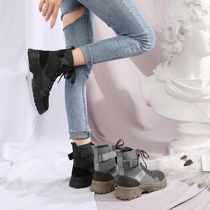 Small 3233 Martin Boots Women's 2019 Autumn And Winter Thick Bottomed Short Boots Women's Locomotive Boots Large Size 414243 Plu