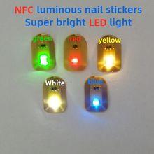 Nfc tag nfc etiqueta nfc led remendos luminosos etiquetas luminosas diy cartões de controle acesso 8 cores prego luminoso adesivos 10 pçs