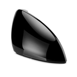 Image 3 - 2 قطع ل VW Golf 7 MK7 7.5 GTD R GTI Touran L E GOLF الجانب غطاء لمرايات السيارة الجانبية قبعات مشرق الأسود مرآة الرؤية الخلفية الغلاف