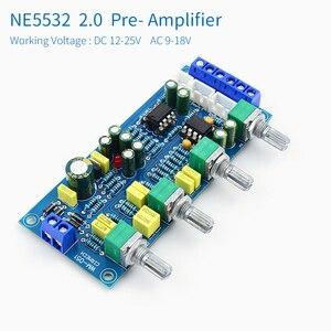 Image 2 - UNISIAN Tone board NE5532, усилитель звука, hi fi, усилитель, усилитель, басовый тройной баланс, громкость, тон, эквалайзер, плата управления для усилителей, набор для творчества