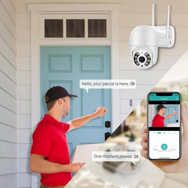 Mini caméra de Surveillance PTZ IP Wifi hd 5MP, dispositif de sécurité sans fil, avec suivi automatique, codec H.265, Zoom numérique x4, ia, détection humaine 5