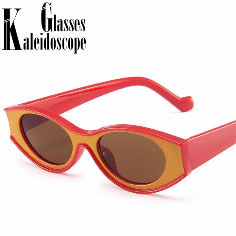 Vintage ovale lunettes de soleil femmes hommes à la mode Concave design petites lunettes de soleil dames Sexy noir blanc lunettes nuances UV400 miroir
