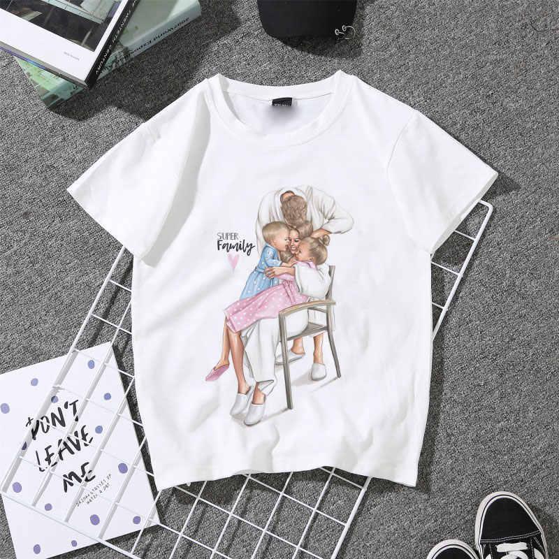 셔츠 여성 2020 카와이 엄마 패션 T 셔츠 여성 엄마의 여름 흰색 티셔츠 여성 소프트 탑스 어머니 선물 레이디 셔츠 하라주쿠