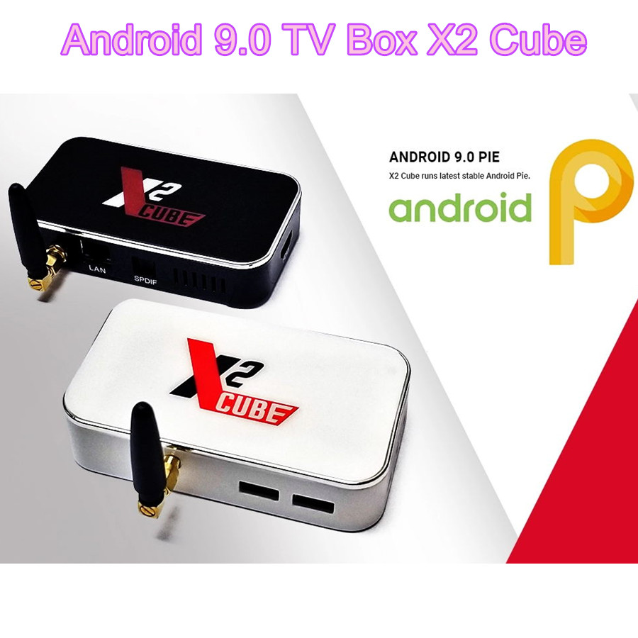 X2 Cube Smart Android Tv Box 9.0 X2cube androïde-tv-box 4k Amlogic S905x2 2g Ddr4 16g 2.4g/5g Wifi 1000m Bluetooth Android Tvbox