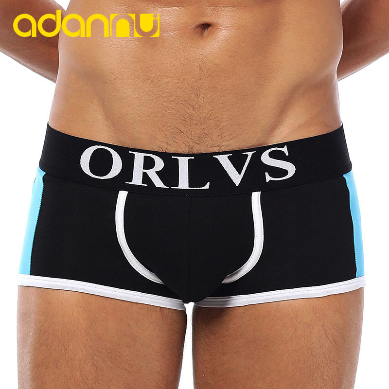 ADANNU Men Underwear Panties Male Boxers Comfortable Quick-Dry Cotton Tanga Cueca OR101