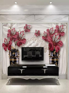 Murals Wallpaper Flower Bedroom Custom Living-Room Tv-Background-Wall European-Style