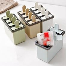 Popsicle Molds Set BPA Free Reusable Ice Pop Maker with Standing Tray Sticks Durable DIY Frozen Ice Cream Pop Molds zhenxing 4 cup ice pop making molds w sticks translucent white green