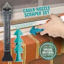 4Pcs Set Remover Caulk Finisher Sealant Smooth Scraper Grout Tools Set Glue Nozzle Cleaning Tile Dirt Tool Spatula Glue Shovel