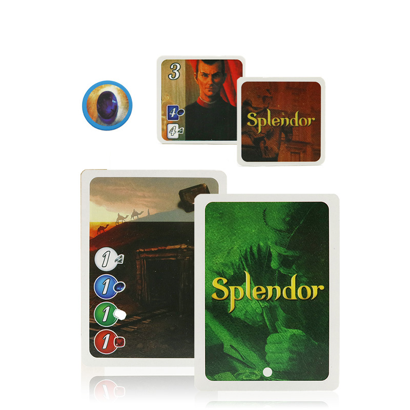 2020 Full English Splendor Board Game For School Family Party Game Adult Financing Investing Playing Cards Game