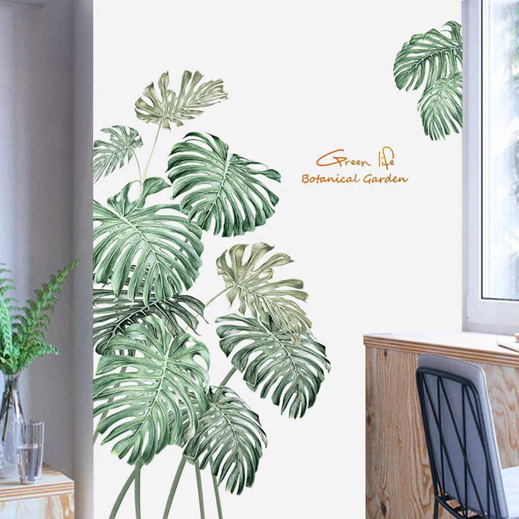 DIY тропический пляж Пальмовые Листья Наклейка на стену Современная Художественная Наклейка виниловая настенная наклейка s детские комнаты домашний декор наклейка на стену s 64P