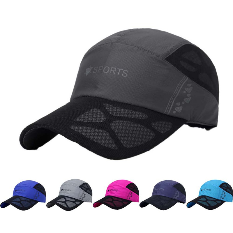 Summer Cap Men Women Peaked Cap Anti-UV Mesh Hats Outdoor Running Golf Fishing Hiking Beach Sportswear