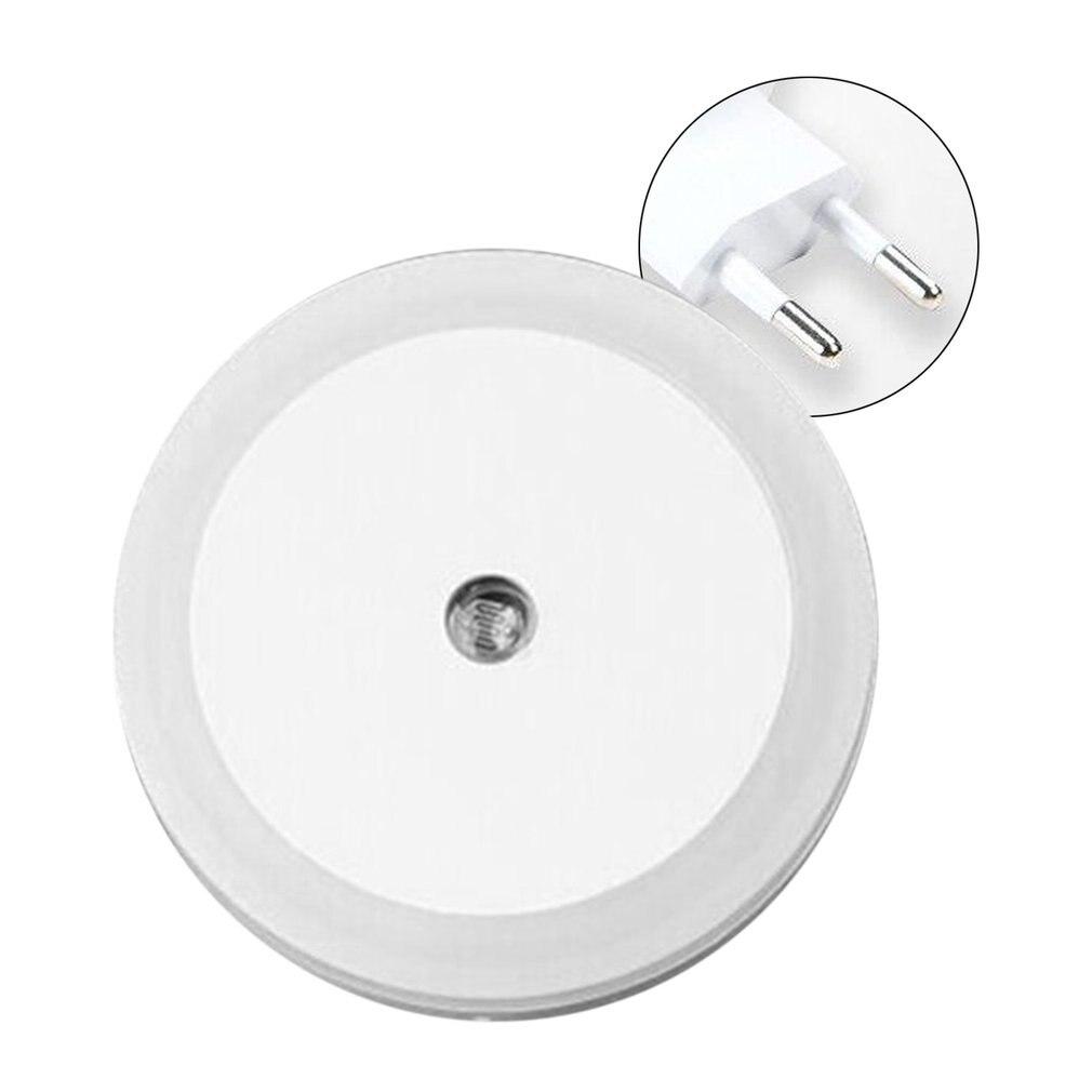 Round Wall Light LED Induction Lamp Nightlight Automatic Switch Light Sensor White/ Yellow/ Blue/ Pink US/ EU Plug Drop Shipping