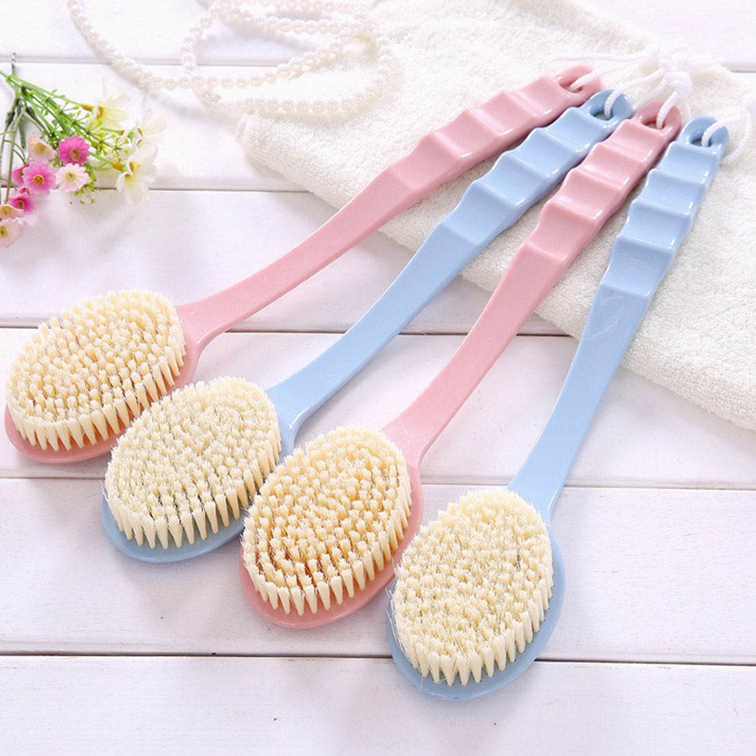 Dry Skin Body Spa Remove Dead Skin Body Massage Shower Brush Bath Brush Long Handled Body Bath Shower Back Brush