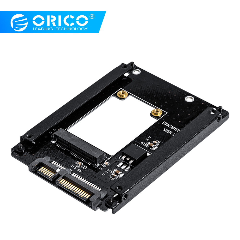 ORICO MSATA To 2.5 Inch SATA 22PIN Adapter SSD Adapter Card Full Height Size Supported MSATA To SATA3 SSD For 25X30 MSATA SSD
