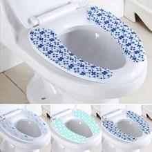 Короткая плюшевая ткань без следов самоклеящаяся крышка для унитаза ванная комната моющаяся грелка клейкая ткань покрытие для унитаза