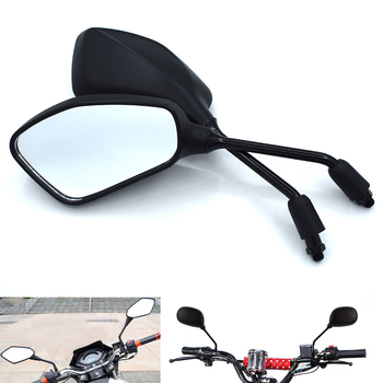 Universal 10mm motorcycle rearview mirror left and right mirror black for BMW K1600 K1200R K1200S R1200R R1200S R1200ST R1200GS image