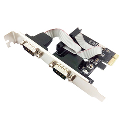 RS232 czarny z napęd dysku karta rozszerzeń wysokiej prędkości dodać na WCH382L 9 Pin PCI-E portu szeregowego płyta Mini trwałe zasilacza komputerowego