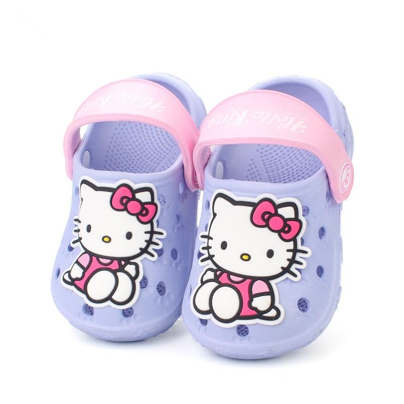 Summer Baby Girl Sandals Shoes Children HelloKitty Toddler Kids Slides Slippers