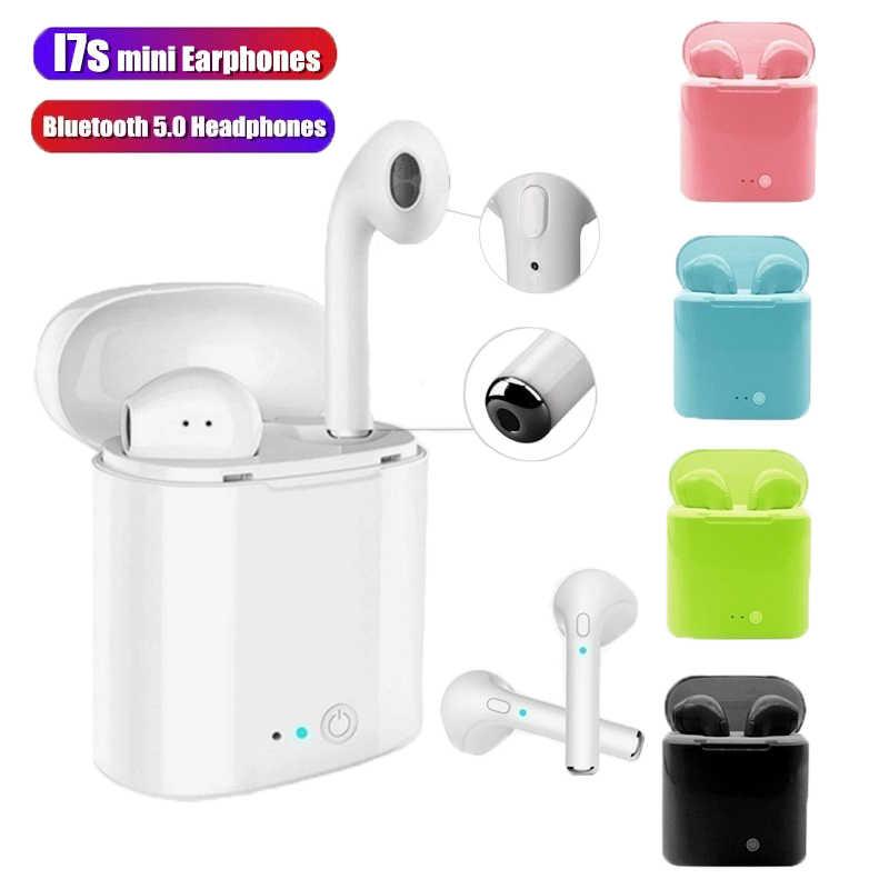 I7s tws מיני אלחוטי אוזניות Bluetooth אוזניות דיבורית אוזניות 3D סטריאו קול אוזניות עבור Iphone Xiaomi huawei סמסונג