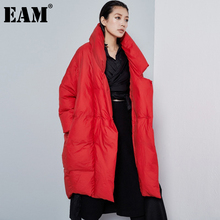 Long-Sleeve Down-Jacket Women Parkas Big-Size Hooded Autumn Fashion EAM Winter Fit Loose