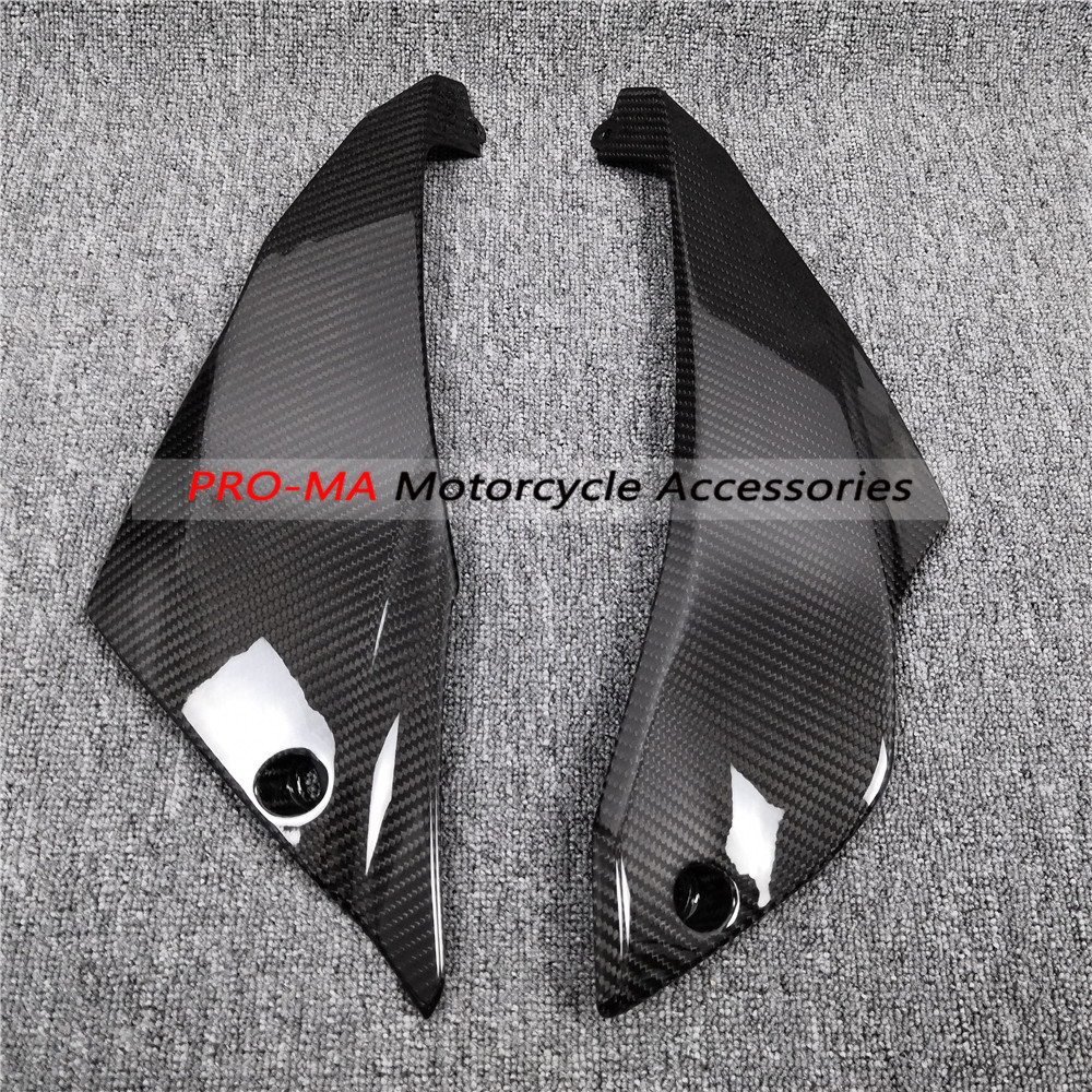 Chassis Side Panels In Carbon Fiber For Kawasaki Ninja 650 2017 2018 2019 Twill Glossy Weave
