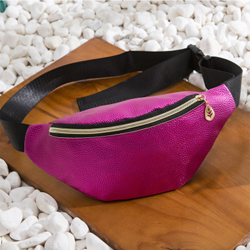 Casual Litchi Soild Color Waist Packs For Women Fashion Soild Color Coin Purse Ladies Multipurpose Pu Leather Phone Bag Design