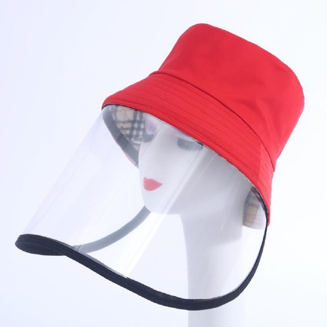 Dropship Anti-saliva Dust-proof Hat With Mask Safety Transparent Protective Mask Plastic Anti-fog Saliva Hats Face Shields Mask 4