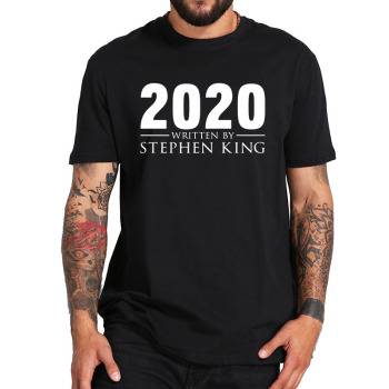New Arrival 2020 Written by Stephen King T Shirt Cotton Short Sleeve Tee Male Tops Tshirt Summer Shirts Homme hogwarts game of thrones star wars jedi mens t shirts summer cotton tee winter is coming stark wolf male casual short sleeve tee