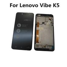 ESC مجموعة شاشة LCD تعمل باللمس ، 5.0 بوصة ، لهاتف Lenovo Vibe K5 A6020A40 A6020 A40 ، أصلي
