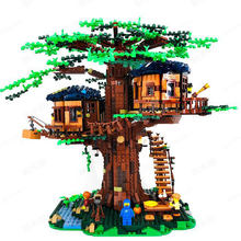 New In stock Ideas Tree House Model 3117Pcs Building Blocks Bricks Toys Compatible 21318 Chirstmas Gifts For Children(China)
