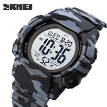 Wodoodporne zegarki męskie moda elektroniczny cyfrowy 2 czas zegar z wyświetlaczem zegarek męska marka SKMEI zegarek Relogio Masculin Reloj