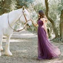 Formal Sister Wedding Party Elegant Purple Dress white Bridesmaids