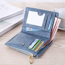 Womens Wallet New Matte Retro Simple Ladies Casual Fashion Zipper Card Bag Purse Small PU Coin