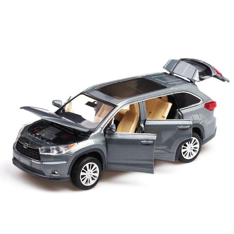 Modelo de coche Highlander modelo de simulación coche 1:32 Sonido y Luz Maisto 1:12, juguete de motocicleta de aleación de modelo de motocicleta Ninja H2R CBR600RR, motocicleta de YZF-R1, modelos de coche para carreras, coches de juguete para niños