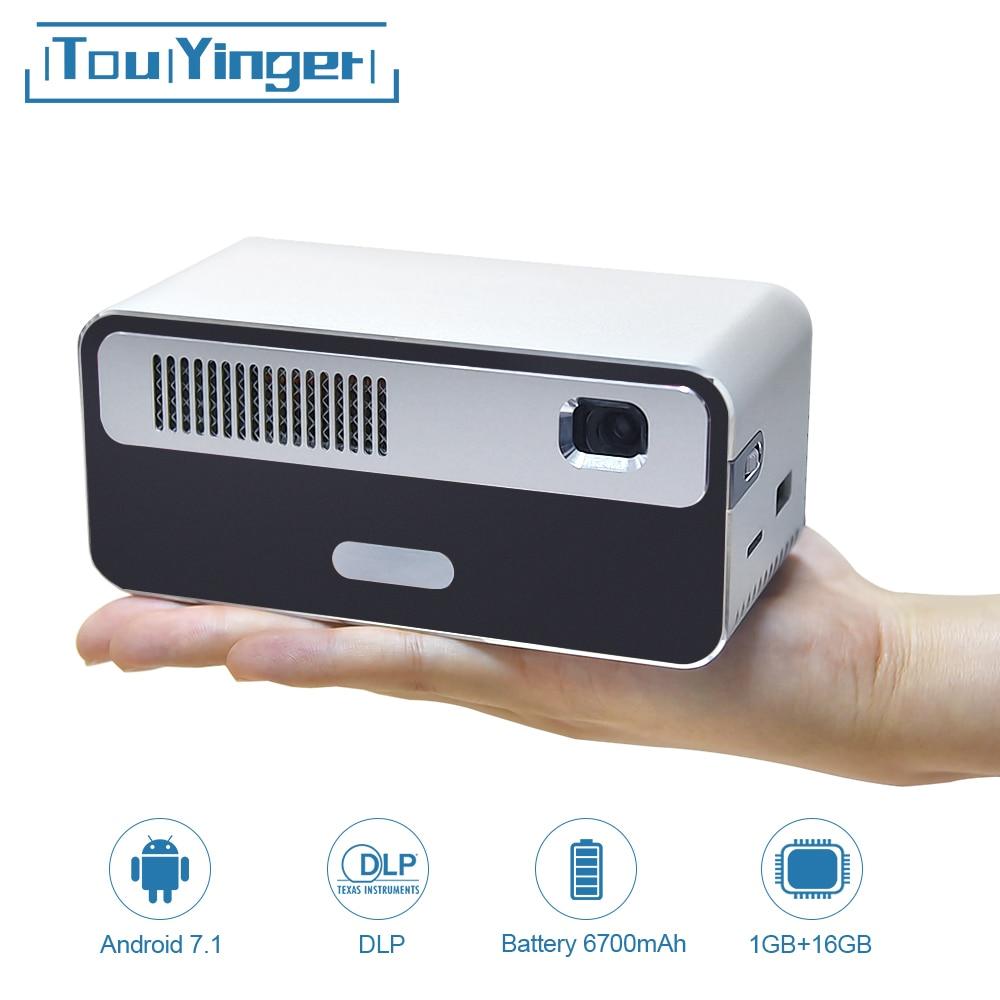 Alibaba グループ 上の Touyinger HDP300 250 ANSI ミニ LED ポータブル Dlp プロジェクターの無線 Lan バッテリー HD アンドロイド 1080 1080p の Bluetooth ポケットピコハンドヘルドビーマー 1